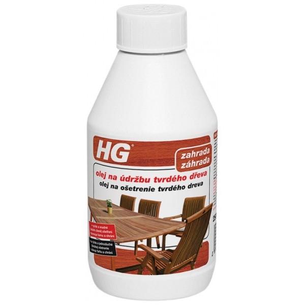 HG olej na ošetrenie tvrdého dreva 250 ml