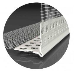 Likov lišta LK-LPD PVC rohová s delenou tkaninou 2,5m