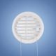 HACO vetracia mriežka kruhová - uzavierateľná biela