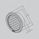 HACO vetracia mriežka kruhová so sieťovinou - nerez
