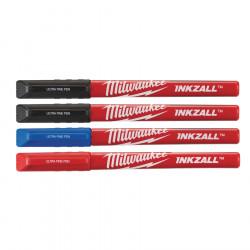 Milwaukee INKZALL perá s tenkým hrotom farebné 4ks