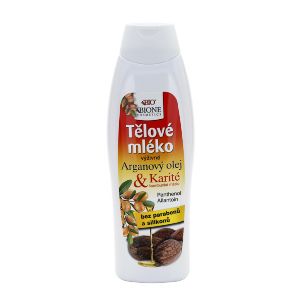 Bione BIO telové mlieko argán + karité 500 ml