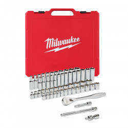 """Milwaukee sada 3/8"""" metrických a colových nástrčných kľúčov s račňou (56ks)"""