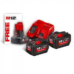 Milwaukee sada akumulátorov a rýchlonabíjačky M18 HNRG-122