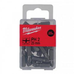 Milwaukee skrutkovací bit PH2 25mm (25 ks)