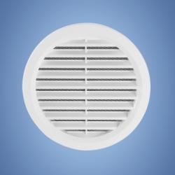 HACO vetracia mriežka kruhová so sieťkou biela