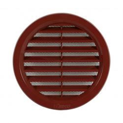 HACO vetracia mriežka kruhová so sieťkou hnedá