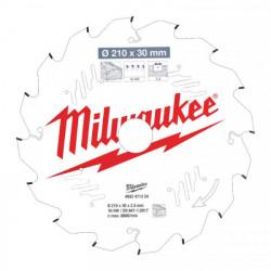 Milwaukee pílový kotúč na drevo 210 x 30 x 2.4 mm 16z ATB