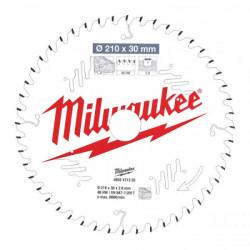 Milwaukee pílový kotúč na drevo 210 x 30 x 2.8 mm 48z ATB