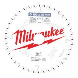Milwaukee pílový kotúč na drevo 190 x 30 x 2.4 mm 40z ATB NEG.