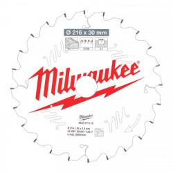 Milwaukee pílový kotúč na drevo 216 x 30 x 2.4 mm 24z ATB NEG.