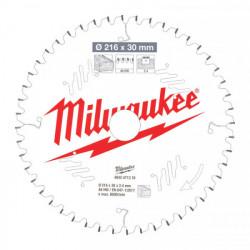 Milwaukee pílový kotúč na drevo 216 x 30 x 2.4 mm 48z ATB NEG.