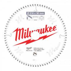 Milwaukee pílový kotúč na ALU/PVC 216 x 30 x 2.4 mm 80z TF NEG.