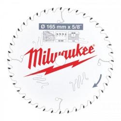 Milwaukee pílový kotúč na drevo 165 x 15.87 x 1.6 mm 40z ATB