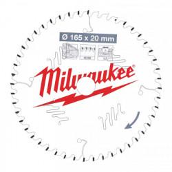 Milwaukee pílový kotúč na drevo 165 x 20 x 2.2 mm 48z ATB