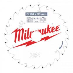 Milwaukee pílový kotúč na drevo 184 x 30 x 1.6 mm 24z ATB