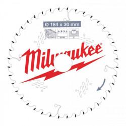 Milwaukee pílový kotúč na drevo 184 x 30 x 2.1 mm 40z ATB