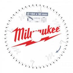 Milwaukee pílový kotúč na ALU/PVC 184 x 30 x 2.4 mm 54z TF NEG.