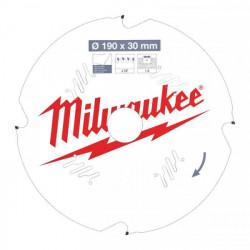 Milwaukee pílový kotúč na vláknitý cement 190 x 30 x 1.8 mm 4z D