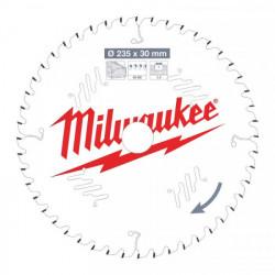 Milwaukee pílový kotúč na drevo 235 x 30 x 2.4 mm 48z ATB