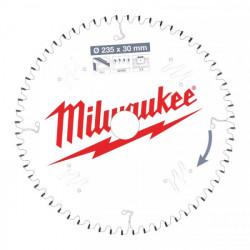 Milwaukee pílový kotúč na ALU/PVC 235 x 30 x 2.4 mm 60z TF NEG.