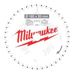 Milwaukee pílový kotúč na drevo 165 x 20 x 1.6 mm 24z ATB