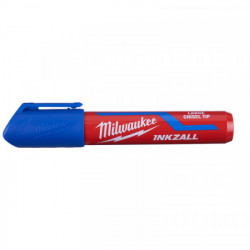 Milwaukee INKZALL značkovač s plochým hrotom L modrý