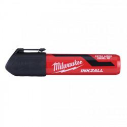 Milwaukee INKZALL značkovač s plochým hrotom XL čierny (blister)