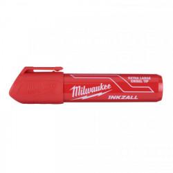 Milwaukee INKZALL značkovač s plochým hrotom XL červený