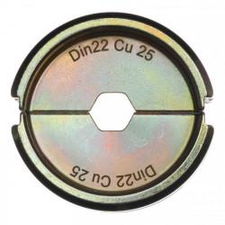 Milwaukee krimpovacie čeľuste DIN22 Cu 25