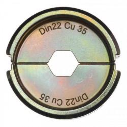 Milwaukee krimpovacie čeľuste DIN22 Cu 35