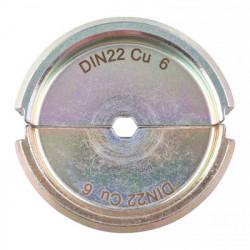 Milwaukee krimpovacie čeľuste DIN22 Cu 6