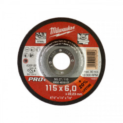 Milwaukee brúsny kotúč na kov PRO+ SG 27 / 115 x 6,0 mm