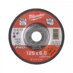 Milwaukee brúsny kotúč na kov PRO+ SG 27 / 125 x 6,0 mm