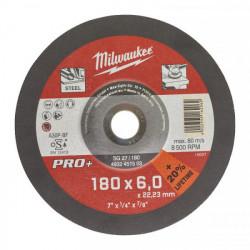Milwaukee brúsny kotúč na kov PRO+ SG 27 / 180 x 6,0 mm