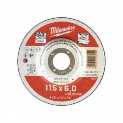 Milwaukee brúsny kotúč na kov SG 27 / 115 x 6,0 mm