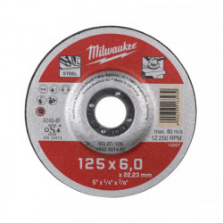 Milwaukee brúsny kotúč na kov SG 27 / 125 x 6,0 mm