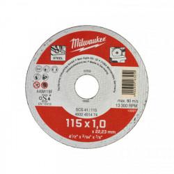 Milwaukee rezný kotúč na kov SCS 41 / 115 x 1,0 mm (200 ks)