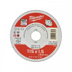 Milwaukee rezný kotúč na kov SCS 41 / 115 x 1,5 mm