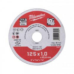 Milwaukee rezný kotúč na kov SCS 41 / 125 x 1,0 mm