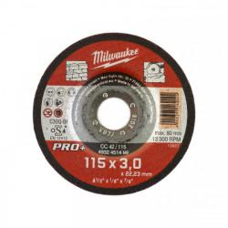 Milwaukee rezný kotúč na kameň PRO+ CC 42 / 115 x 3,0 mm