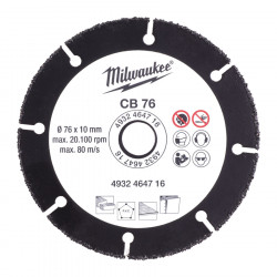 Upraviť: Milwaukee karbidový rezný kotúč CB 76 mm