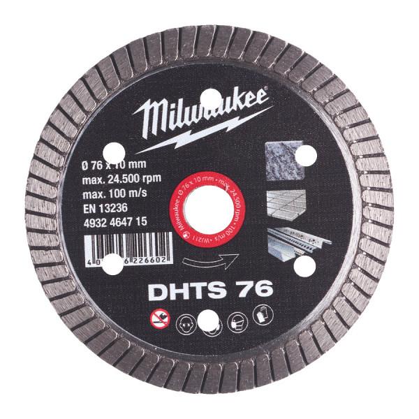 Milwaukee diamantový rezný kotúč DHTS 76 mm