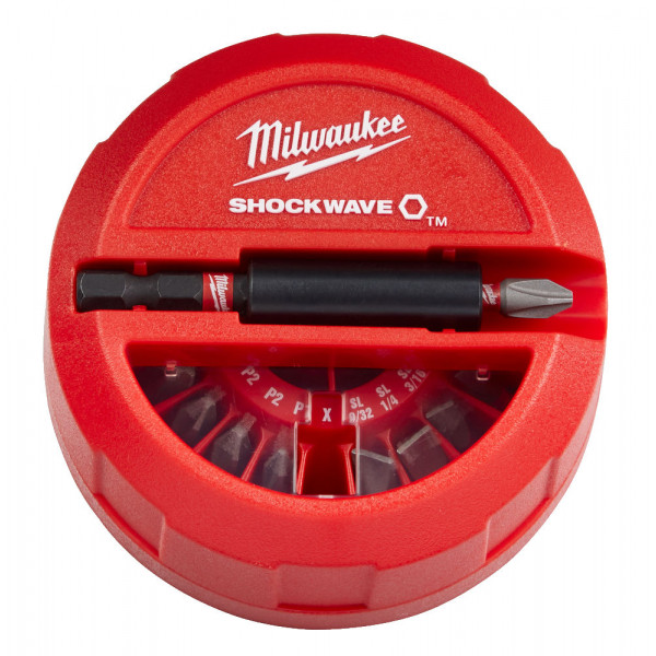 Milwaukee sada bitov Shockwave (15 ks)
