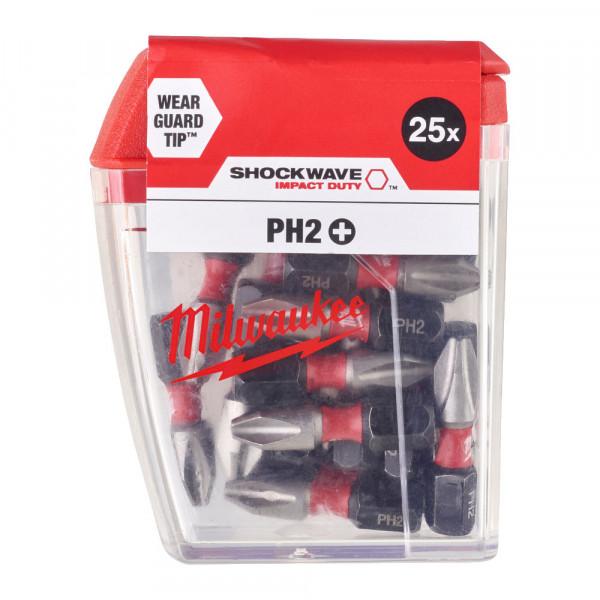 Milwaukee PH2 25mm 25ks
