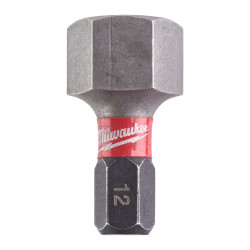 Milwaukee skrutkovací bit Shockwave HEX 12 25 mm (2 ks)