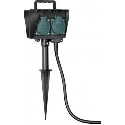 Brennenstuhl záhradná zásuvka so zemným bodcom IP44 4 násobná 1,5m H07RN-F 3G1,5