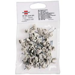 Brennenstuhl káblové svorky s klincami pre 7-10mm rozvody (50ks)