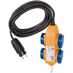 Brennenstuhl stavebný predlžovací kábel IP44 s blokom Powerblock 5m čierny H07RN-F 3G1,5