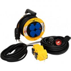 Brennenstuhl Power-Pack IP44 káblový bubon 10m/ Predlžovací prívod 10m/ Elektrický rozvádzač 5m H07RN-F 3G1,5